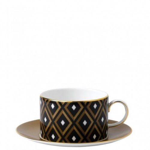 Arris Bone China Geometric Teacup & Saucer